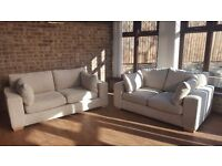NEXT AS NEW 3 SEATER SOFA AND MATCHING 2 SEATER IMMACULATE