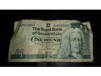1 pound note