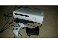Xbox 360 60gb with fifa 15 & 2 wireless controllers , works great