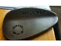 IKASU Japanese Forged Wedges 52,56,60...RAW Finish upgraded shafts & Grips..Spin from Rough