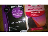 bundle lot 2 vgc higher maths books sqa & Scottish exam £2 for both past papers can post