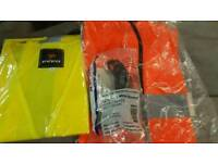 Safety equipment high vise protection goggles, gloves
