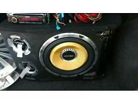 Vibe Subwoofer 1600W (All Cables Included + Kenwood CD Player) ONO