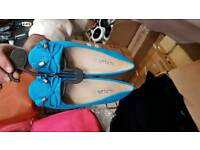 Blue Flat Shoes For Ladies