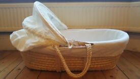 Moses basket and mattress - free