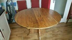 Solid oak dining table no chairs