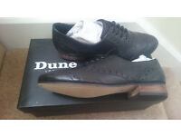 Dune Black Leather Lace Up Brogue Shoe - Size 5 new