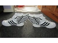 Size 10 - Adidas - Rare white (pixel) Winged trainers - Collection Beighton near Acle