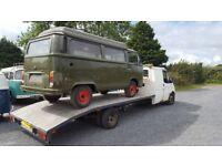 Car, van or camper transportation