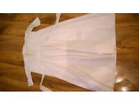 vintage white cotton long christening gown dress doll