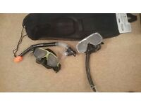 Snorkelling equipment x 2 adult Intex/ Cressi & Flippers pair snorkel