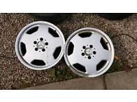 "Mercedes Benz Replica Monoblock wheels x 2 17"" 7.5J x 17H2"
