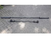 7FT STRAIGHT & EZ OLYMPIC ZINC WEIGHTS BARBELLS - Individually Priced