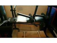 Dynamix weight bench with butterfly and preacher pad with weights