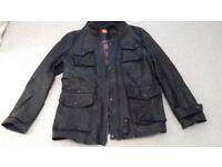 Hugo Boss Orange - classic men's leather jacket - dark brown - 110 cm chest.
