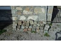 Pavers all for £100 or individually for £1.50 each.