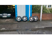 alloys audi vw skoda seat £69 only full set with ok tyres bargain for the bank holiday