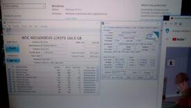 Laptop HP intel dual core 1.87GHz, RAM 3GB, Win10, new fine screen 1680x1050,HDD 160GB, good battery