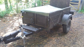 Trailer 6' x 4' (approx) Dual Purpose can also transport motorbike.