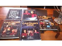 set of five star trek a4 books
