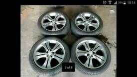 17'' BSA 5x100 pcd alloy wheels with good tyres