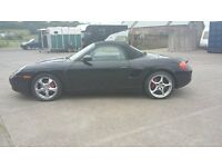 PORSCHE 986 BOXTER CONVERIBLE FACTORY BLACK.