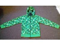 OFFICIAL MINECRAFT KIDS 9/10 yrs 'CREEPER' HOODIE FOR SALE