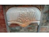 Cast iron fire place insert