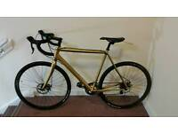 Custom Gold Cyclocross bike cannondale