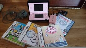 Baby pink Nintendo Ds Lite With Accessories
