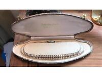 Vintage Pompadour 2 Strand Pearl Necklace,