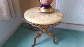 Pair of onyx side tables