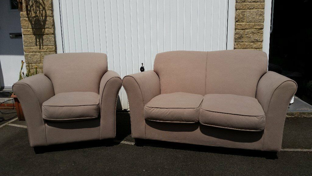 Argos Mink 2 Seater Sofa And Matching Armchair In