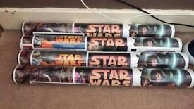 4 rolls of Star Wars wallpaper unopened