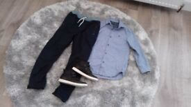 Boys outfit age 9 ex next. Worn once for wedding. As new condition. Shirt, Chinos & boots (size 2)