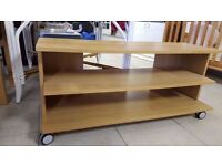 Rolling Modern TV Unit With Three Shelves in Great Condition