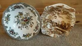 Plates Asiatic Pheasant and Johnsons Brother