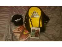 Yellow and black Breitling rucksack