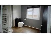 Victoria Plumb Shower enclosure, toilet, basin, cabinets,towel rail, all in very good condition