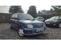 2000 Nissan Micra 1.0 S Automatic 5 Door V LONG MOT LOW 50k MILES Cheap Clio Corsa 206 Almera Auto