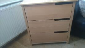 ASPACE CHILDREN'S CHEST OF DRAWERS AND SINGLE WARDROBE
