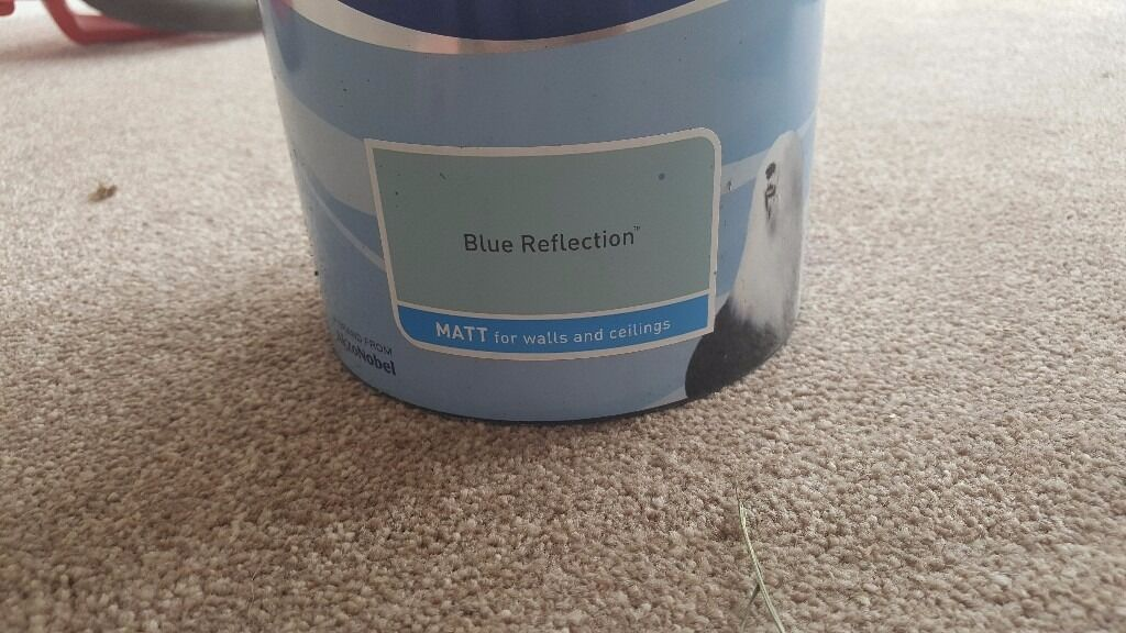Dulux blue reflection paint pots x 2