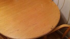 Teak dining table with 6 chairs.