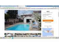 Holiday home on island of Ile de Re, beachside location , centre of village, with private pool