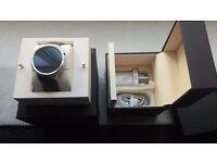 Huawei W1 Classic Smart Android Wear Smart Watch Boxed Steel/Black Leather Strap, BNIB