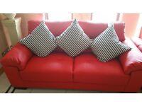 WOW 3&2 leather sofas.