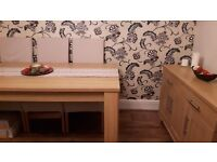 Dining table 6 Chairs and matching sideboard