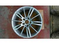 "Genuine Bmw 18"" Mv3 ( Style 193 ) Front 8J Alloy Wheel X 2"