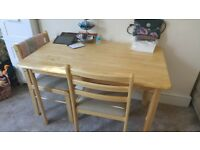 john lewis dining table and 2 chairs. CHEAP