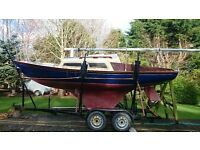 CORRIBEE 21 MKI 4 BERTH GRP SAILING CRUISER £2000 just massively reduced